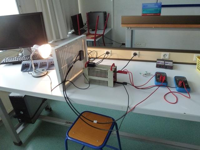 Petit panneau photovoltaique physique